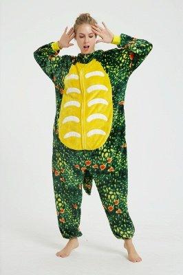 Новый Зеленый Трицератопс Осень Зима Теплая Фланель Домашняя Одежда Плюс Размер kigurumi Onesie Пижамы для Женщин Пижама Ночная Рубашка Пижамы Животных_10