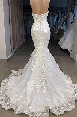 Chérie étonnante appliques robe de mariée sirène_3
