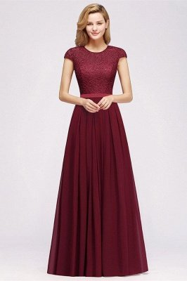 Adah | Cheap Dark Navy Round neck Cap Sleeve Lace Formal Dress, Pink, Dark Green