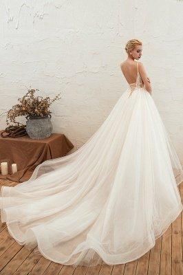 Vestido de novia marfil con tirantes finos boho | Vestidos de novia románticos en venta_16