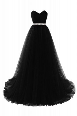 ANGELINA | A-line Sweetheart Burgundy Tulle Prom Dress With Beading_6