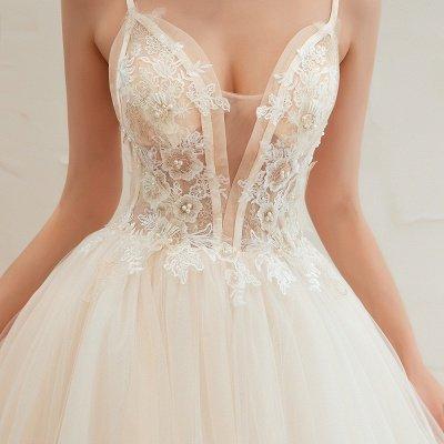 Vestido de novia marfil con tirantes finos boho | Vestidos de novia románticos en venta_6