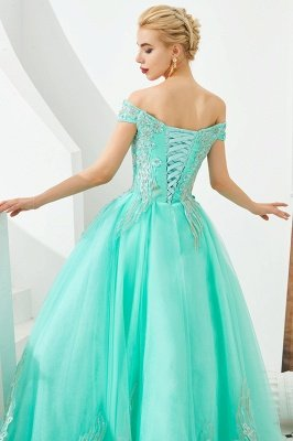 Henry | Elegant Off-the-shoulder Princess Red/Mint Prom Dress with Wing Emboirdery_16