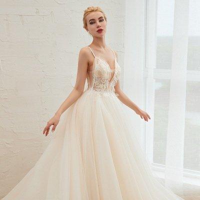 Vestido de novia marfil con tirantes finos boho | Vestidos de novia románticos en venta_19