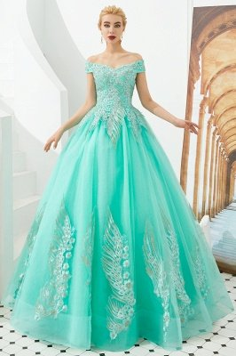 Henry | Elegant Off-the-shoulder Princess Red/Mint Prom Dress with Wing Emboirdery_10