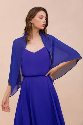 Royal Blue Chiffon winter Wraps for Bridesmaid