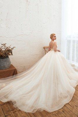 Vestido de novia marfil con tirantes finos boho | Vestidos de novia románticos en venta_24