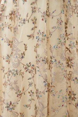 Herbert | Élégante robe de bal d'épaule doré à épaules dénudées avec de délicats appliqués multicolores en dentelle_10