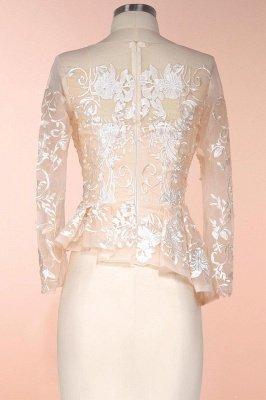 Elegantes mangas largas sirena vestidos de madrina | Vestidos de noche de encaje Champange para eventos especiales_5