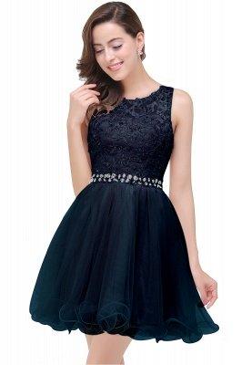 ABBY | A-ligne longueur au genou Tulle robe de bal avec Appliques & Crystal_4