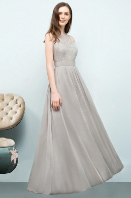 SILVIA | A-line Sleeveless Long Lace Top Chiffon Bridesmaid Dresses_1