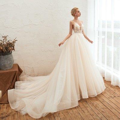 Vestido de novia marfil con tirantes finos boho | Vestidos de novia románticos en venta_11