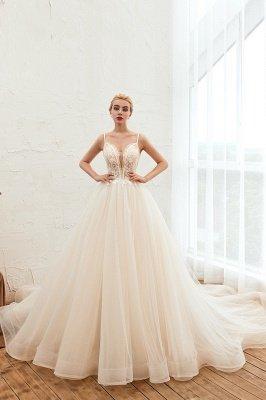 Vestido de novia marfil con tirantes finos boho | Vestidos de novia románticos en venta_1