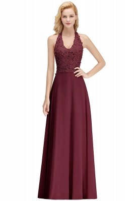 Sexy Halter Backless, Burgundy, Navy, Pink, Silver Sleeveless Princess Formal Dress_13