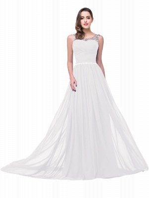 AIMEE | A-Linie Gericht Zug Chiffon Party Kleid mit Perlenstickerei_1