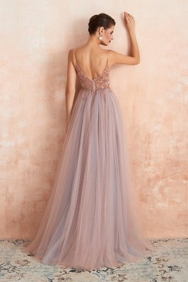 Charlotte | New Arrival Dusty Blue, Pink Spaghetti Strap Prom Dress with Sexy High Split, Evening Gowns Online_19