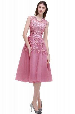 ЭМИРА | A-Line Crew Tea Length Кружева Appliques Короткие платья выпускного вечера_2