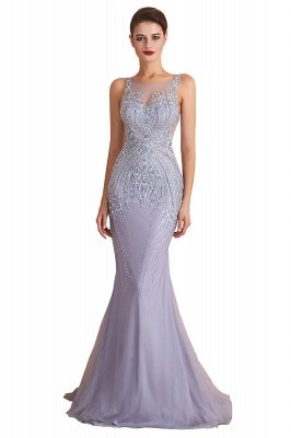 Chipo | Luxury Illusion neck Lavender White Beads Prom Dress Online, Expensive Low back Column Evening Gowns_1