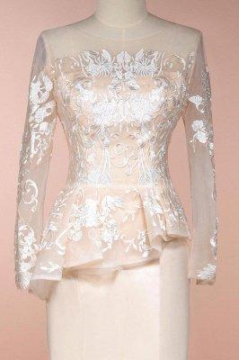 Elegantes mangas largas sirena vestidos de madrina | Vestidos de noche de encaje Champange para eventos especiales_3
