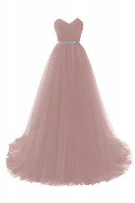 ANGELINA | A-line Sweetheart Burgundy Tulle Prom Dress With Beading_2