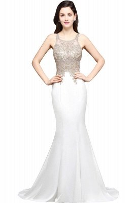 AVERIE | Русалочка совок шифона Элегантное платье выпускного вечера с аппликациями_1