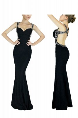 Ceci | Criss-cross Back Mermaid Prom Dress with Beaded Straps_4