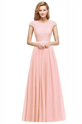 Adah | Günstige Dark Navy Rundhals Cap Sleeve Lace Formal Dress, Pink, Dunkelgrün_1