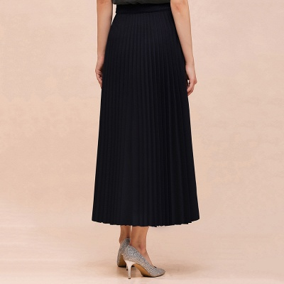 Alice New Fashion Damen Casual Frühling Autunm Stretch Hanf Plissee A-Linie Tee Länge Rock_5