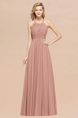 A-Line Chiffon Halter Ruffles Floor-Length Bridesmaid Dress_6