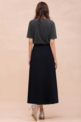 Alice New Fashion Damen Casual Frühling Autunm Stretch Hanf Plissee A-Linie Tee Länge Rock_21