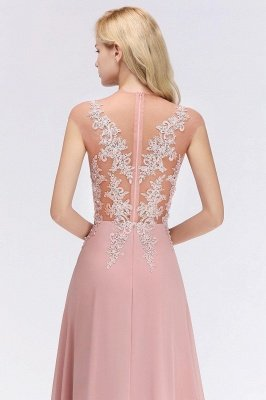 Cap Sleeve Lace Appliques Beads Slim A-line Evening Prom Dress for Women_14