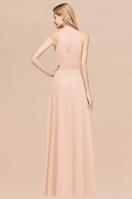 A-Line Chiffon Halter Ruffles Floor-Length Bridesmaid Dress_5