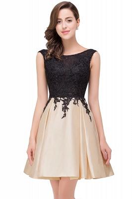 EVA | Apliques de encaje sin mangas una línea vestidos de baile cortos_1