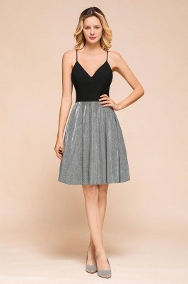 Arnett | Spaghetti Strap Criss-cross Back Two toned Cocktail Dress