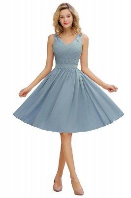 Кружевное длинное короткое платье с V-образным вырезом с поясом | Сексуальное коктейльное платье без рукавов с V-образным вырезом без рукавов_6