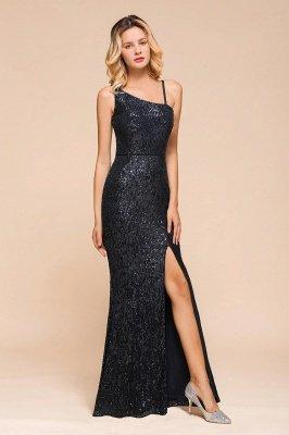 Черное платье для выпускного с блестками и блестками_6