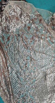 Золотые без рукавов V-образным вырезом Аппликация Ruffled Тюль Русалка платья выпускного вечера_3