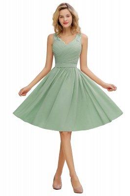 Кружевное длинное короткое платье с V-образным вырезом с поясом | Сексуальное коктейльное платье без рукавов с V-образным вырезом без рукавов_7