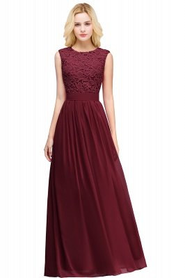 EMELY | Sheath Crew Sleeveless Floor-length Lace Top Chiffon Bridesmaid Dresses_5