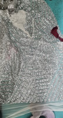 Sweetheart Strapless Sequins Long Train Mermaid Prom Dresses with Sleeves_3