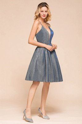 Arline | Spaghetti Strap Princess V-neck Short Cocktail Dress_9