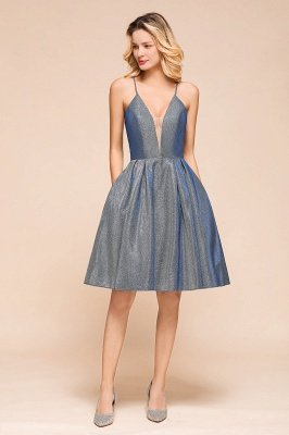 Arline | Spaghetti Strap Princess V-neck Short Cocktail Dress