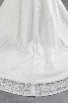 Elegantes schulterfreies Brautkleid aus weißer Meerjungfrau_7