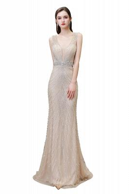 Sexy Mermaid V-neck Silver Mermaid Prom Dress_1