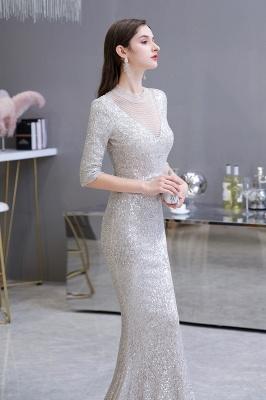 Lindo prata mangas compridas barato longo vestido de baile_6
