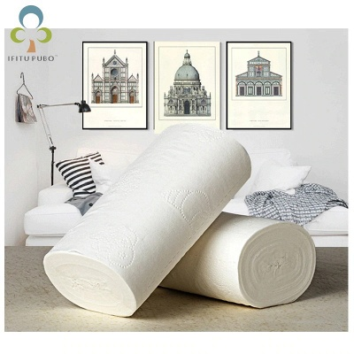 10 Rolls/Lot Fast Shipping Toilet Roll Paper 4 Layers Home Bath Toilet Roll Paper Primary Wood Pulp Toilet Paper Tissue Roll GYH_5