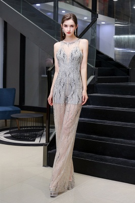 Sparkle Illusion High neck See-through Prom Jumpsuit_10