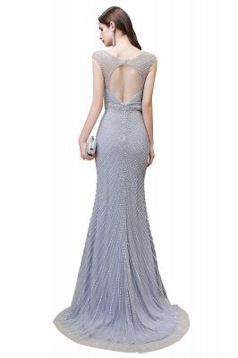 Sexy Mermaid V-neck Silver Mermaid Prom Dress_24