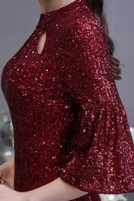 Блестящее платье для выпускного с длинными рукавами и русалкой_11