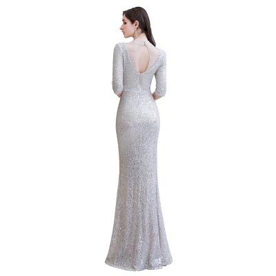 Lindo prata mangas compridas barato longo vestido de baile_12